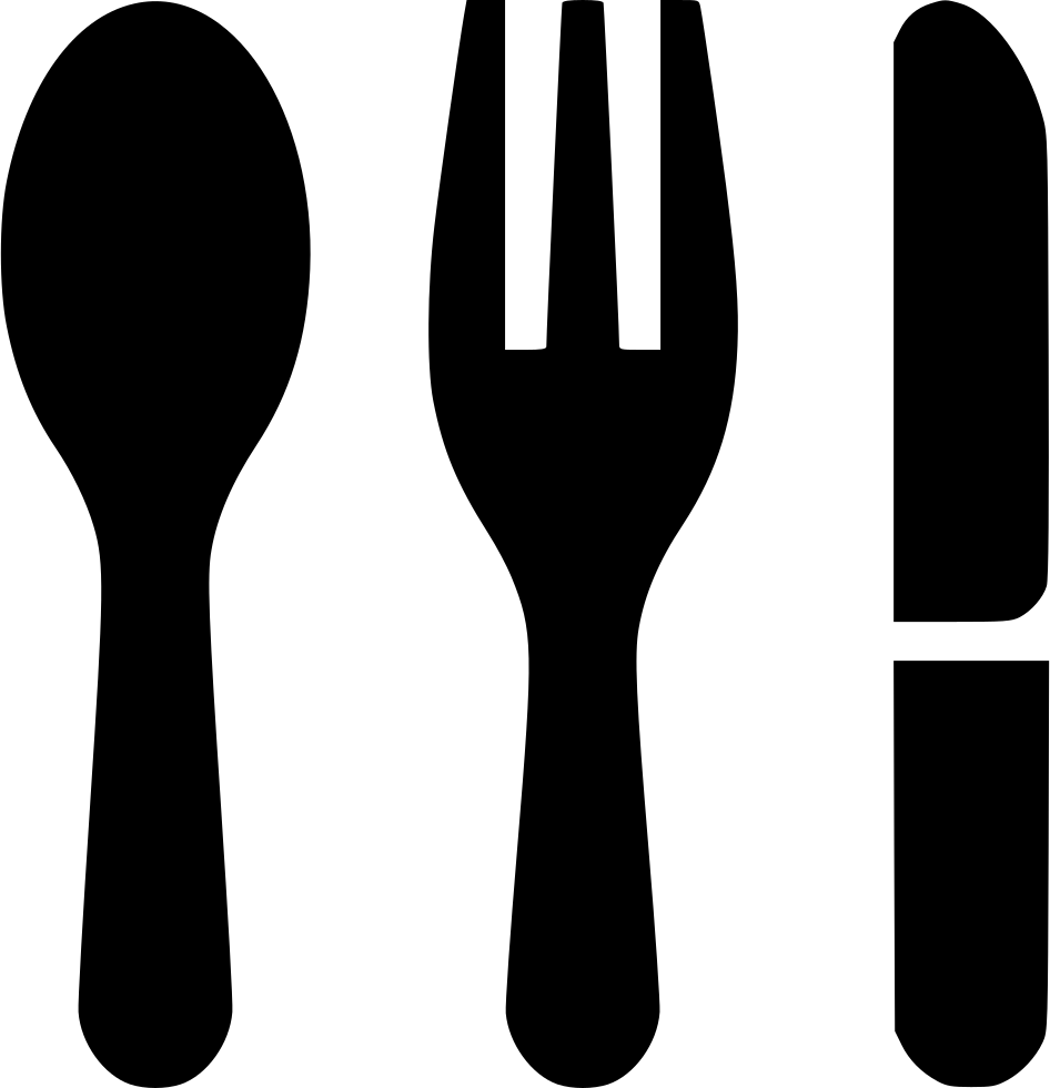 Fork knife clipart png. Spoon svg icon free