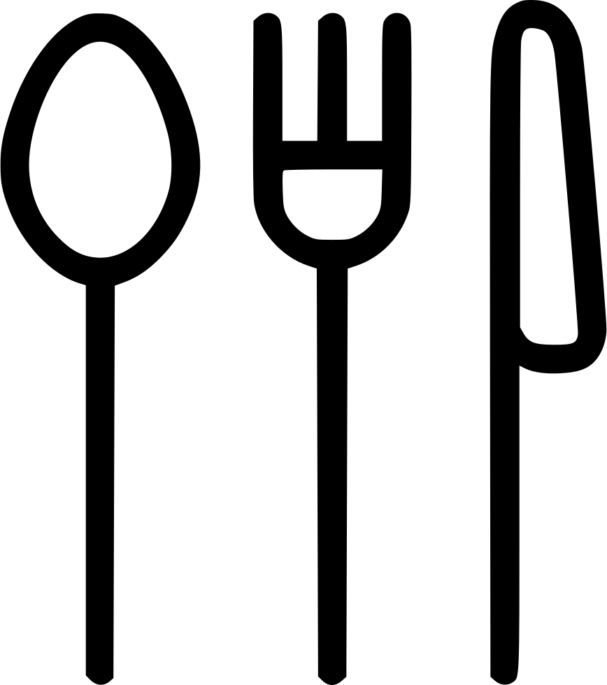 Fork knife spoon png. Eating svg icon free