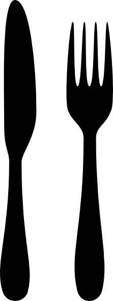 Fork silhouette png. And knife transparent pictures