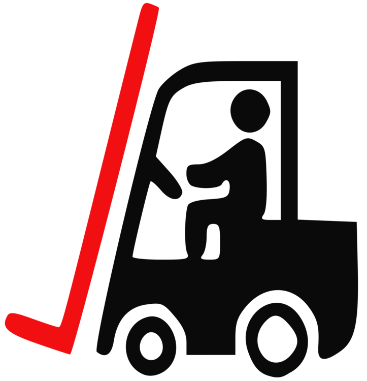 Truck clipart container truck. Forklift intermodal signage logistics