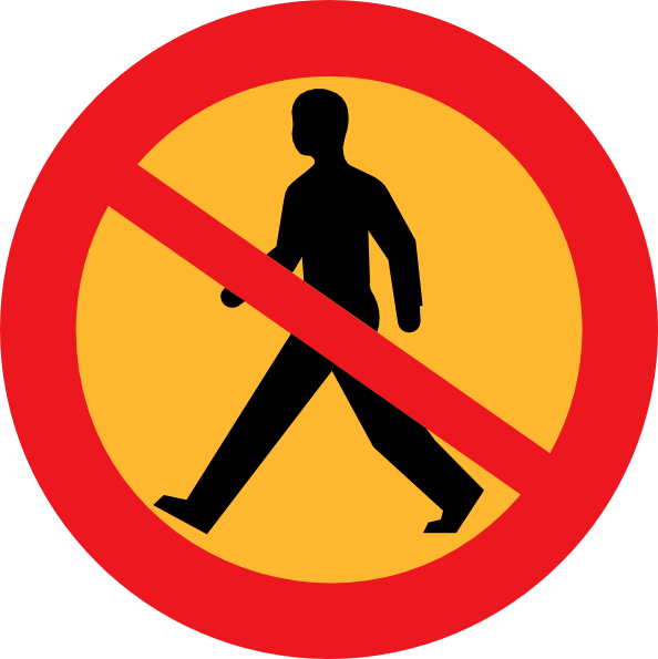 Forklift clipart gambar. No entry sign with