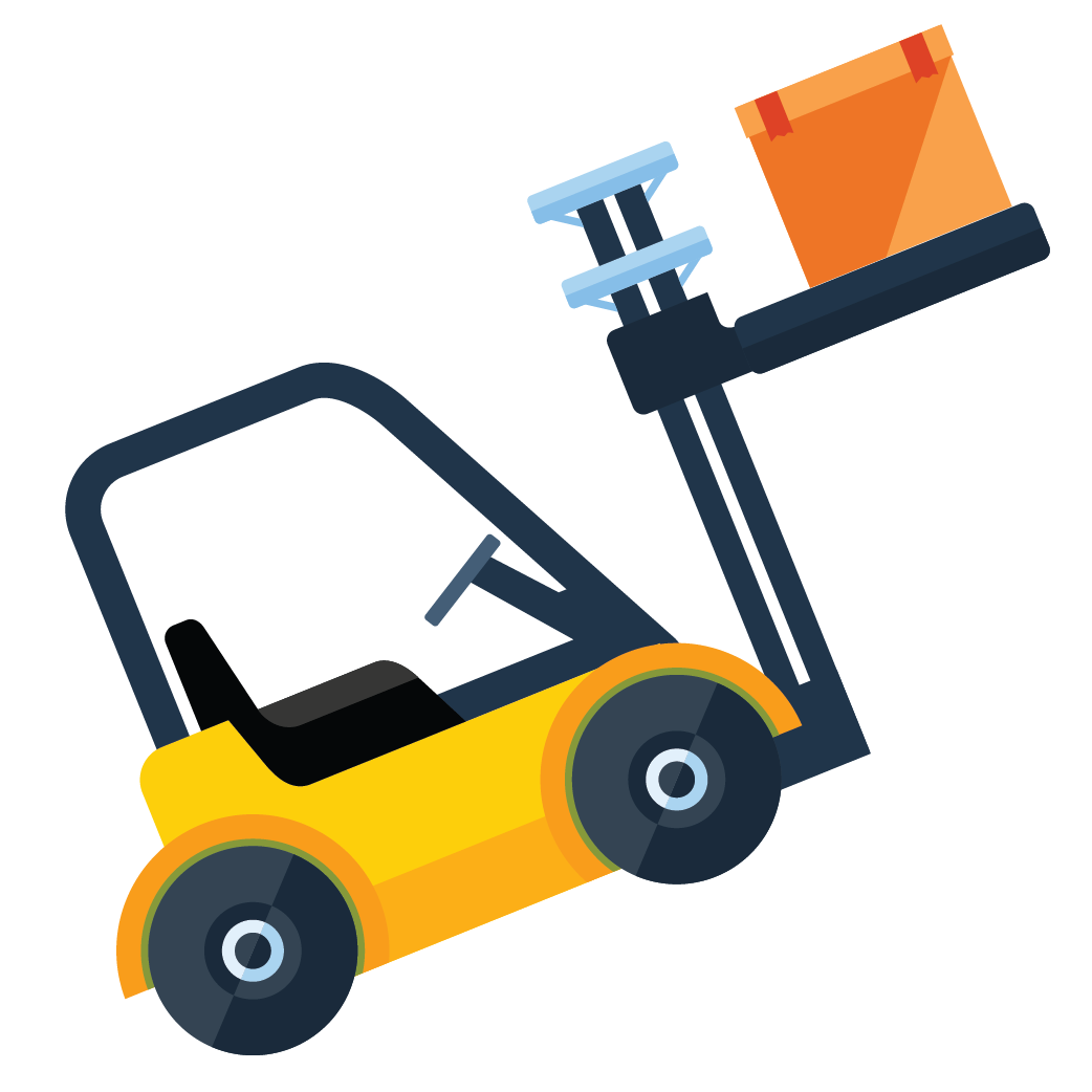 Forklift clipart small warehouse. Palletized co working fulfillment