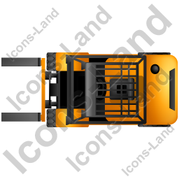 Forklift clipart top view. Truck yellow icon png