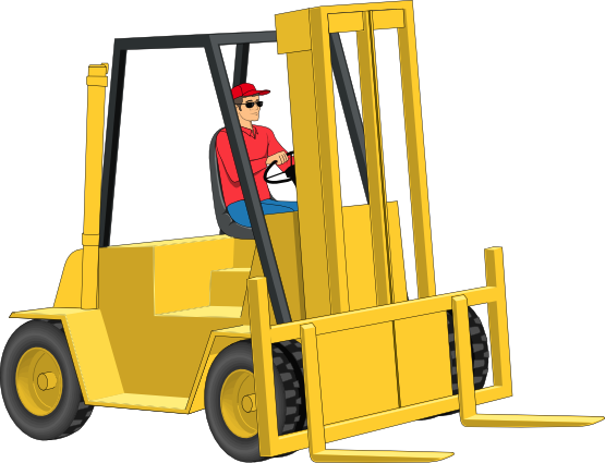 Forklift clipart top view. Free cliparts download clip