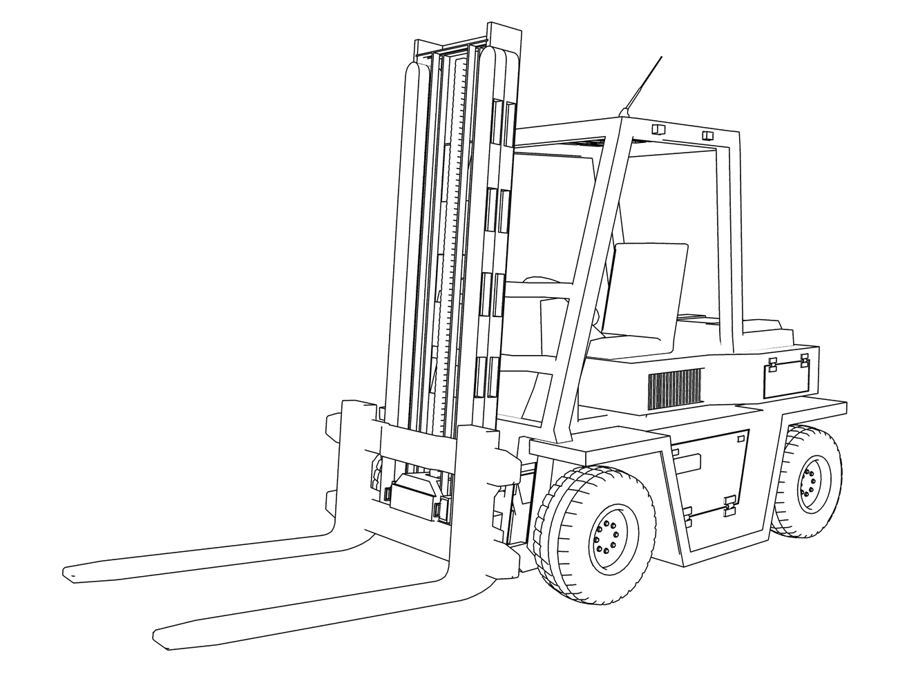 forklift drawing assembly