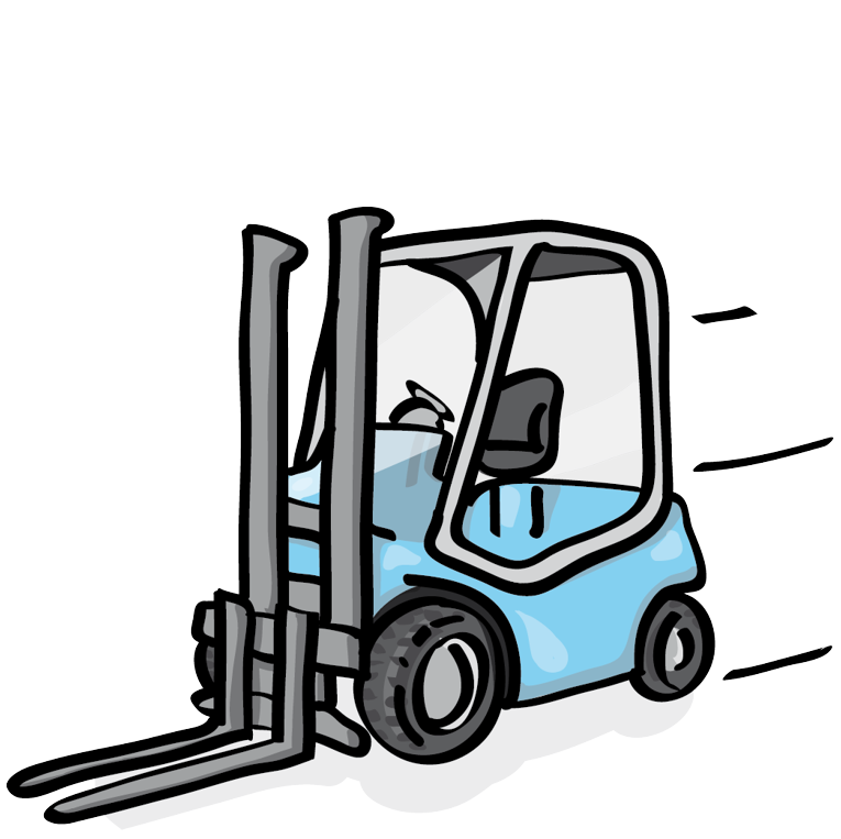 Forklift drawing truck. Blackforxx used forklifts for