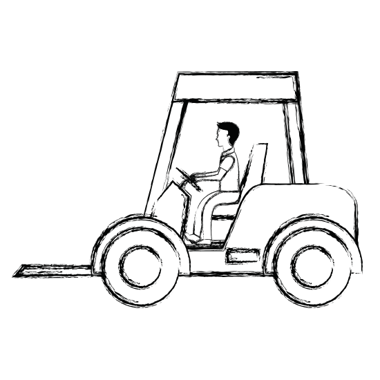 Forklift drawing design. Vehicle isolated icon icons