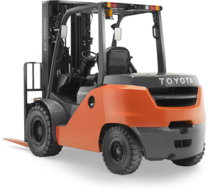 Forklift drawing components. Electric pneumatic outdoor toyota