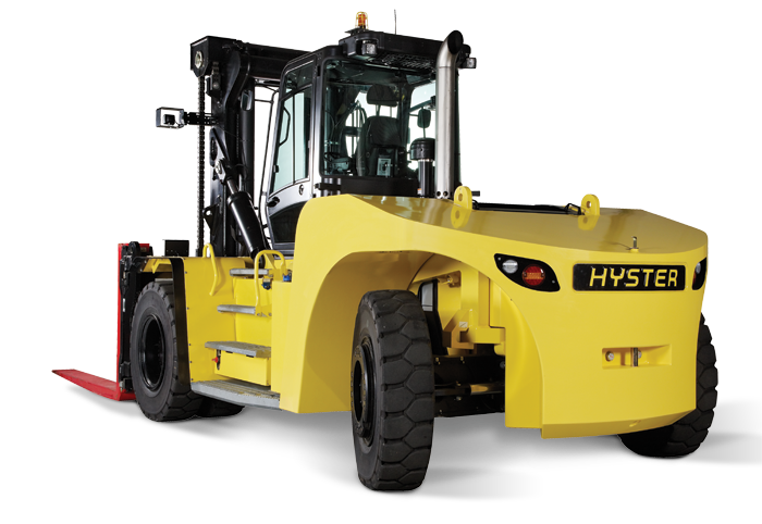 Forklift drawing yellow. H hd s high