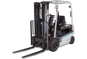Forklift drawing truck. Unicarriers qx series