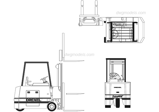 forklift drawing dwg