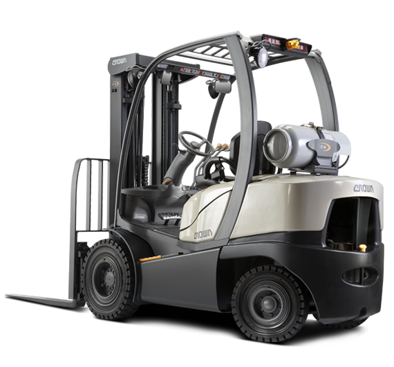 Forklift drawing semi truck. Toyota vs crown which
