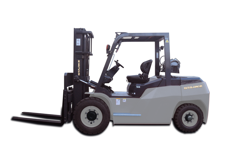 Forklift drawing side view. Material handling news and