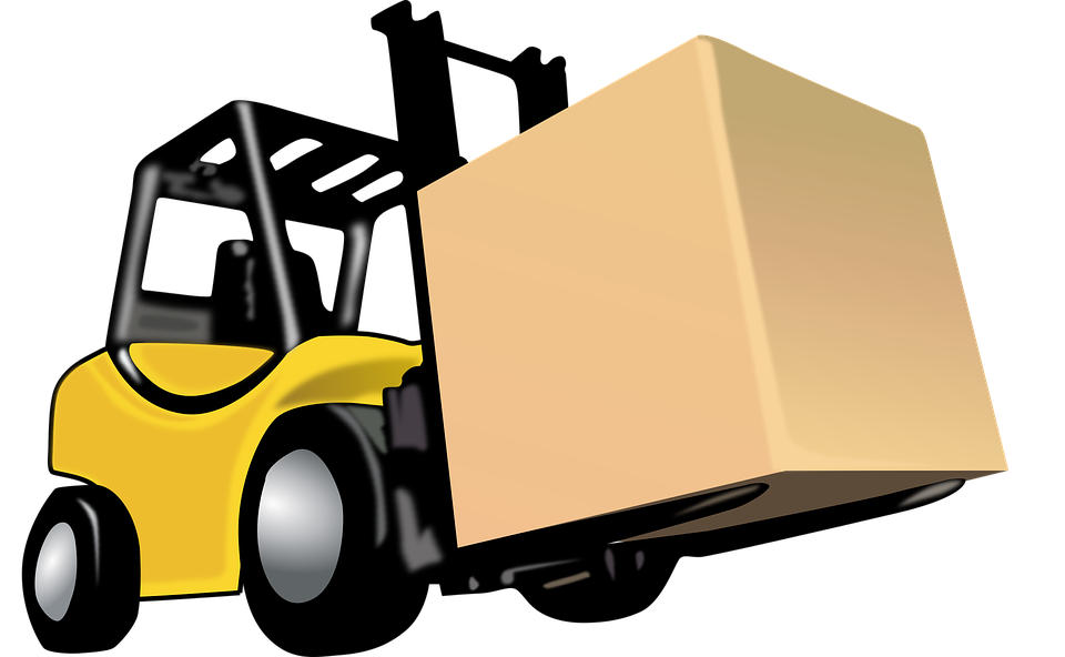 Forklift drawing top view. Clipart transparent download