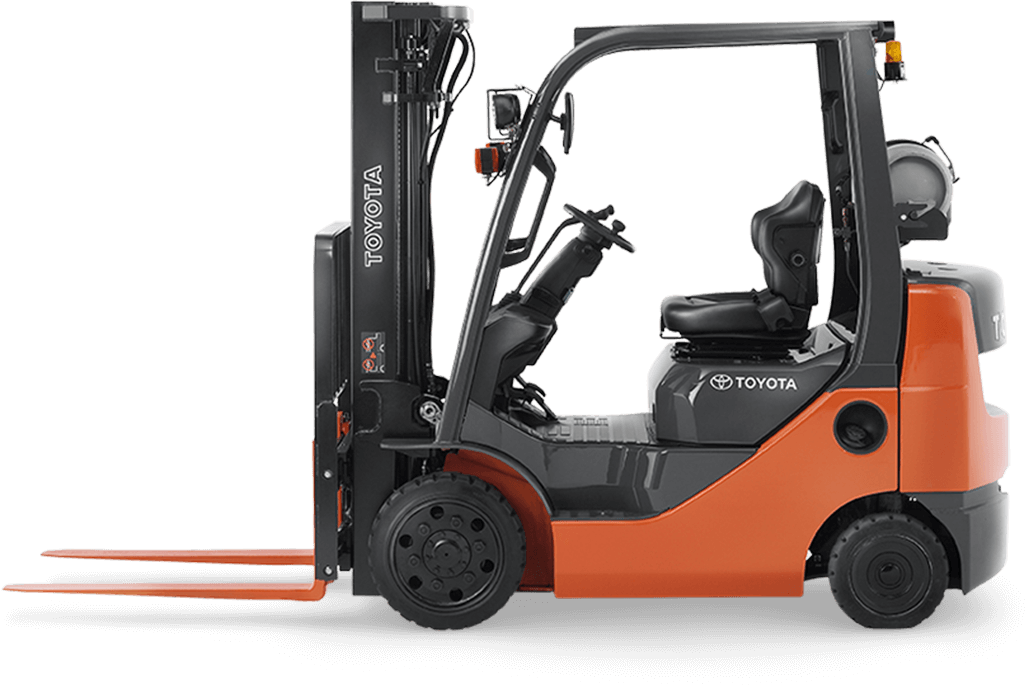 Forklift drawing toyota. Clipart transparent download