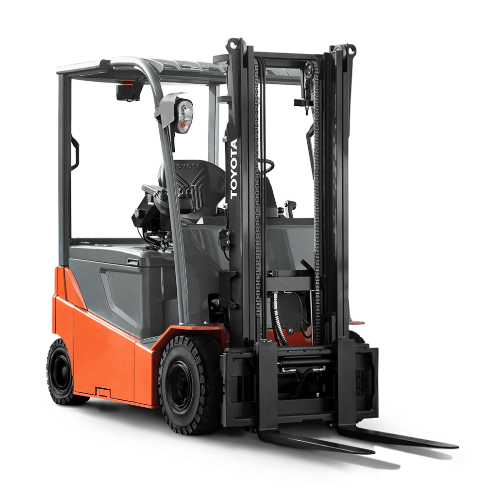 Forklift drawing toyota. Electric pneumatic outdoor
