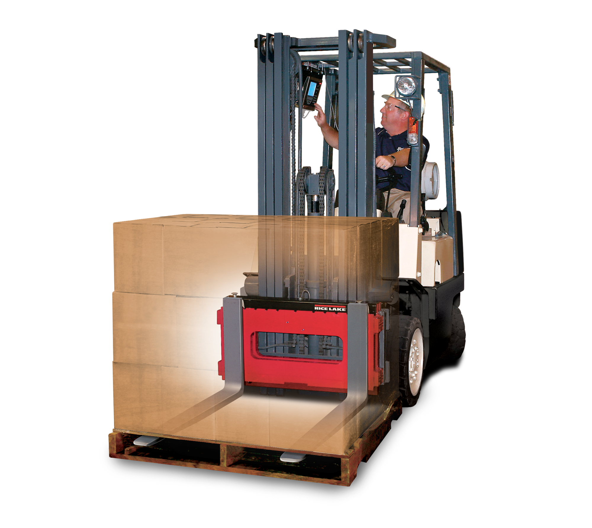 Forklift drawing truck. Cls i scale view