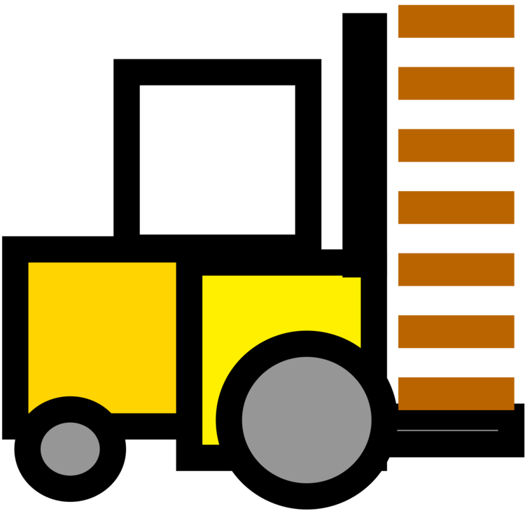 Forklift drawing yellow. Computer icons printing encapsulated