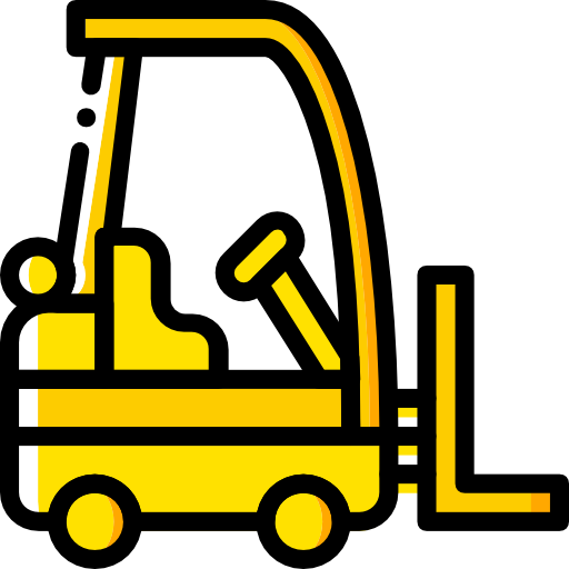 Forklift drawing yellow. Clipart transparent download