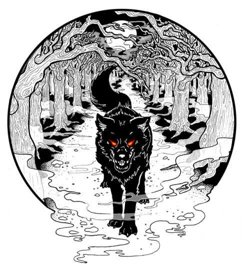 Forrest drawing aesthetic. Forest wolf tumblr black