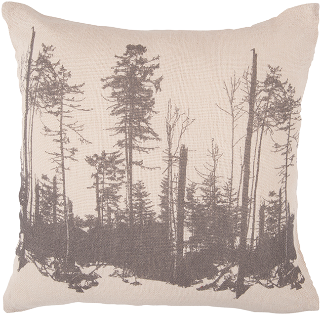 Forrest drawing perspective. Trees in forest pillow