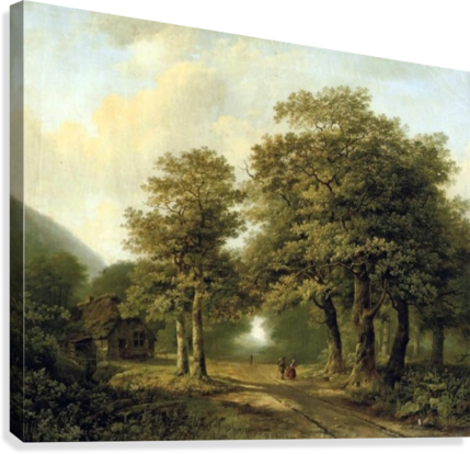 Forrest drawing perspective. A forest with figures