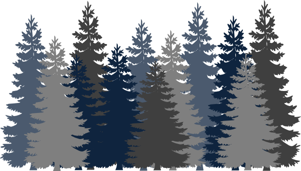 Forrest vector. Navy blue tree forest