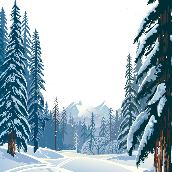 Forrest vector. Winter clipart hd snow