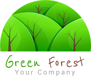 Forrest vector. Green forest logo eps