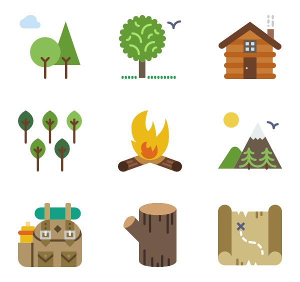 Forrest vector. Forest icons free outdoors