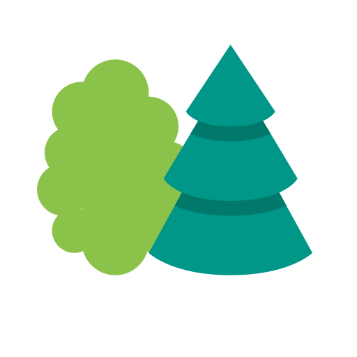 Forrest vector. Forest leaf nature icon