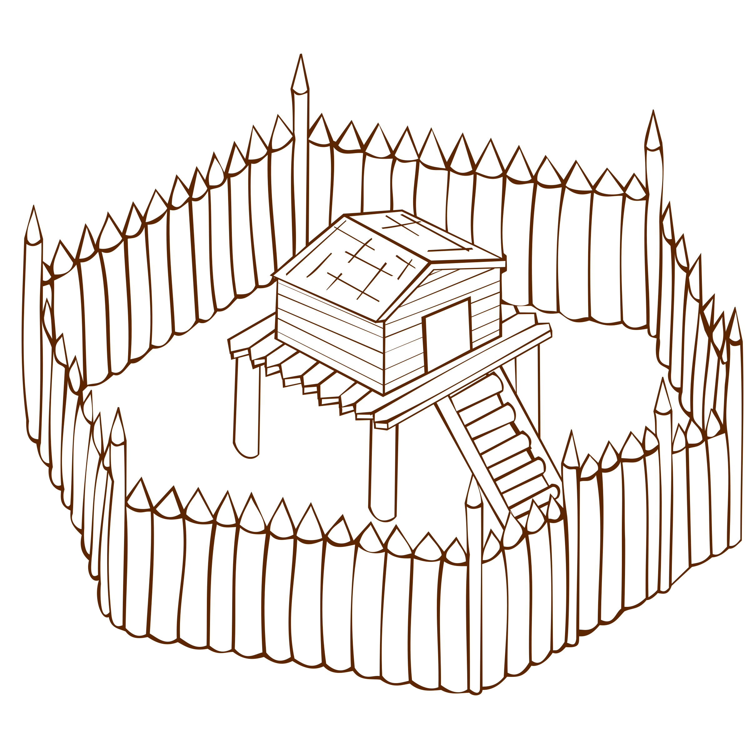 Fort drawing. Collection of images
