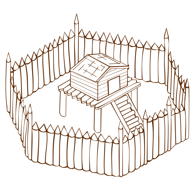 Fort drawing. Fortification computer icons silhouette