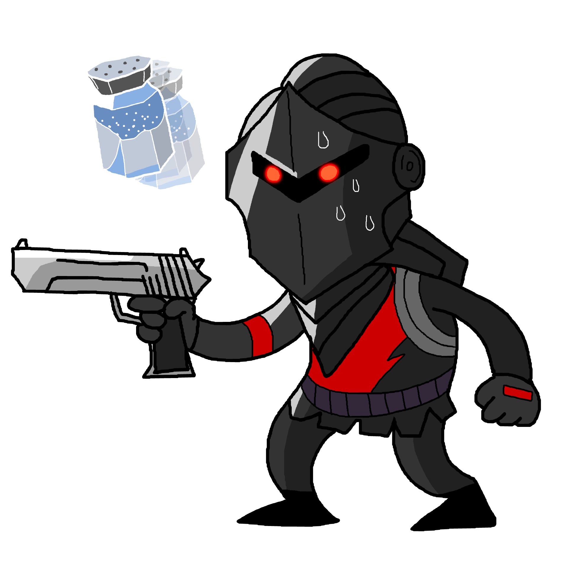 Fortnite black knight png. Drawing of my interpretation