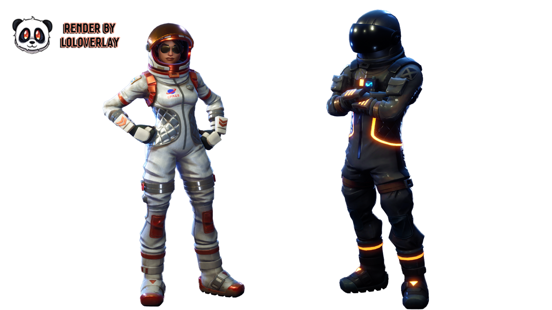 Moonwalker and dark voyager. Fortnite characters png png stock