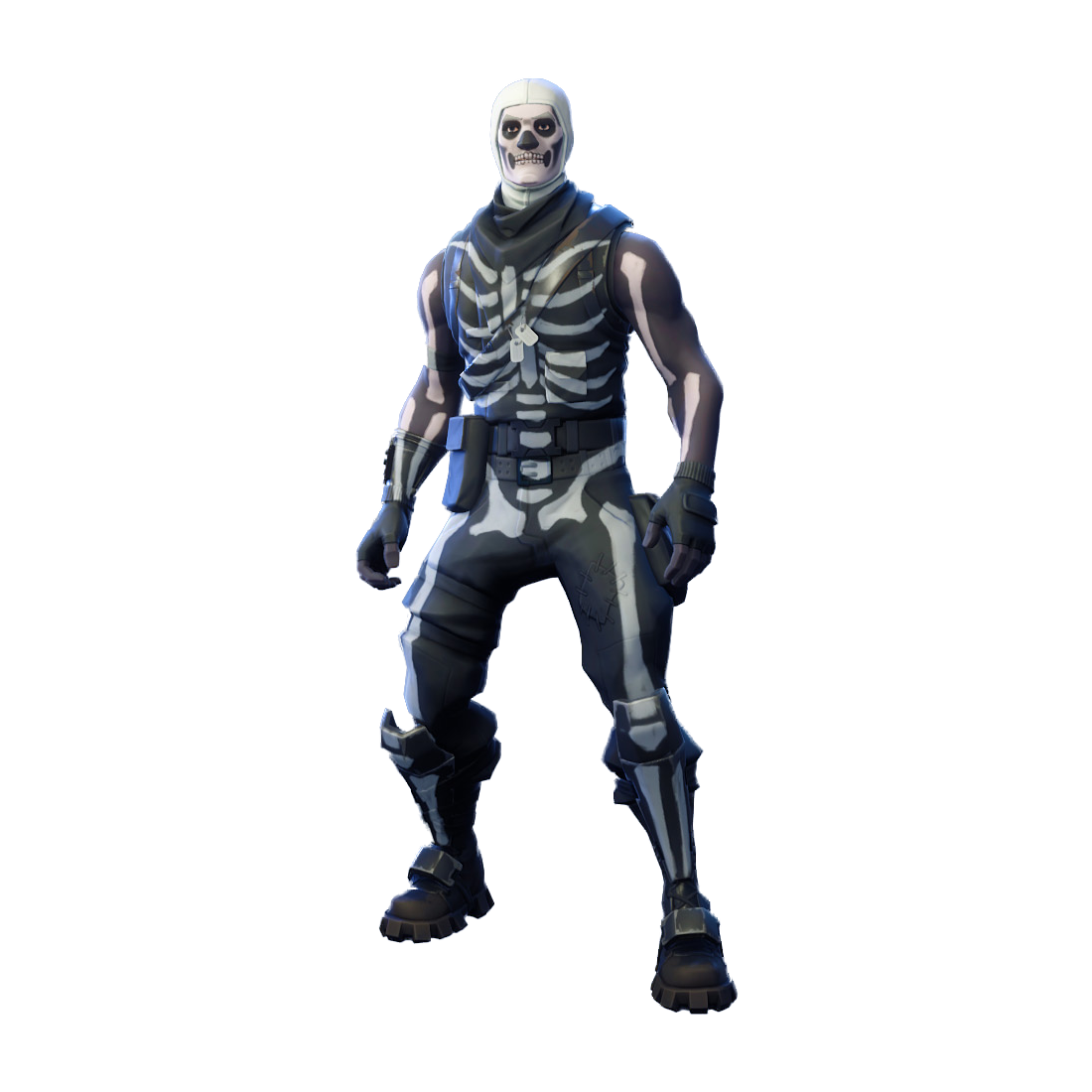 Skull trooper clipart free. Fortnite png image purepng