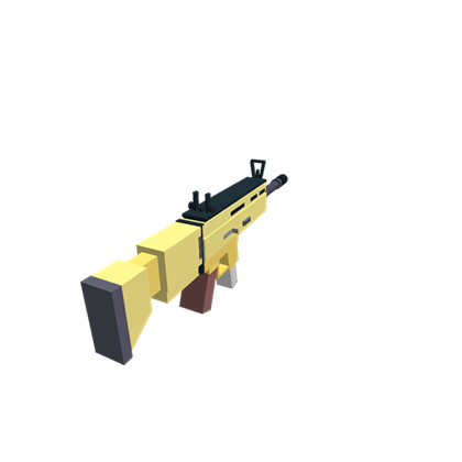 Fortnite gold scar png. Roblox