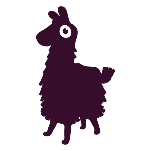 Fortnite vector. Llama silhouette transparent png