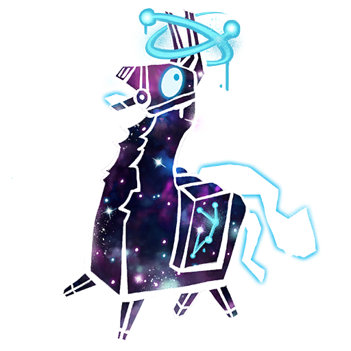 Galaxy skin owners soon. Fortnite llama png black and white stock