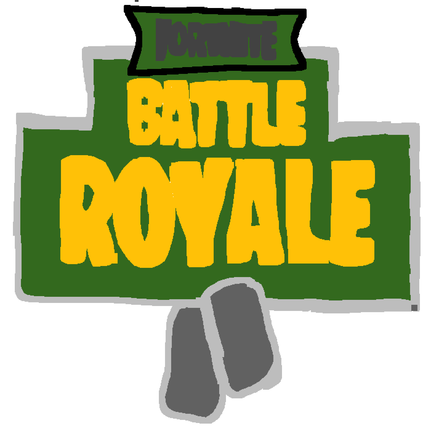 Fortnite llama png logo. Pixilart battle royal by