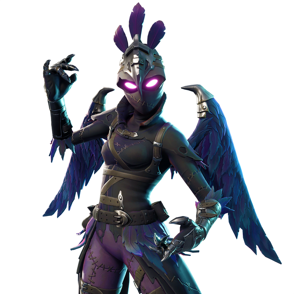 Fortnite v leaked data. Raven skin png jpg