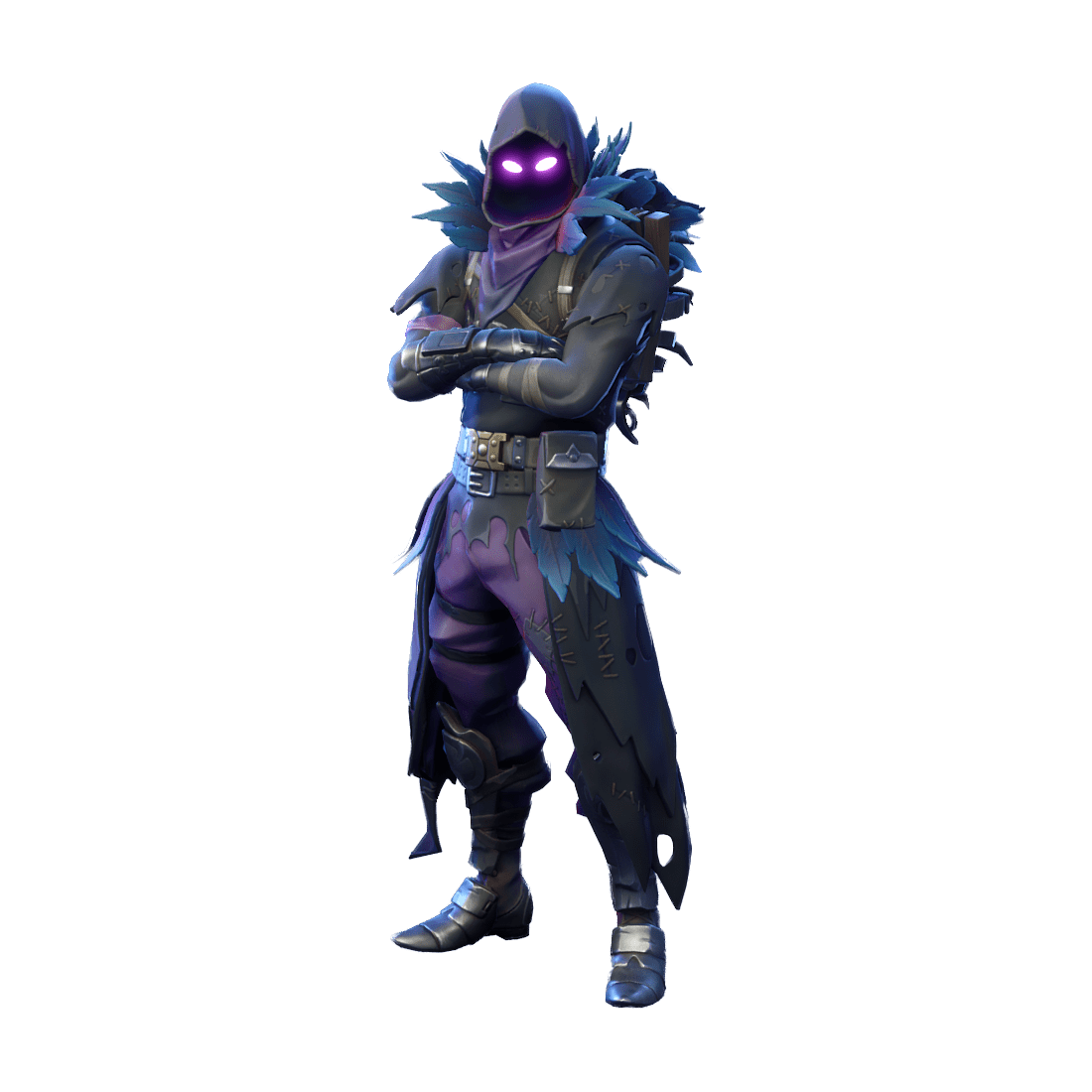 Fortnite outfits skins files. Raven skin png clipart transparent