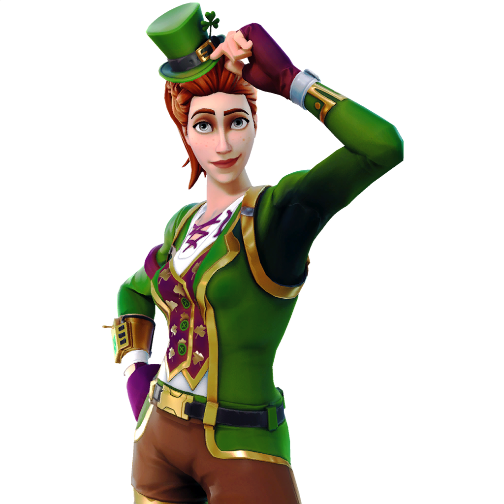 Fortnite skins png. Battle royale saint patrick