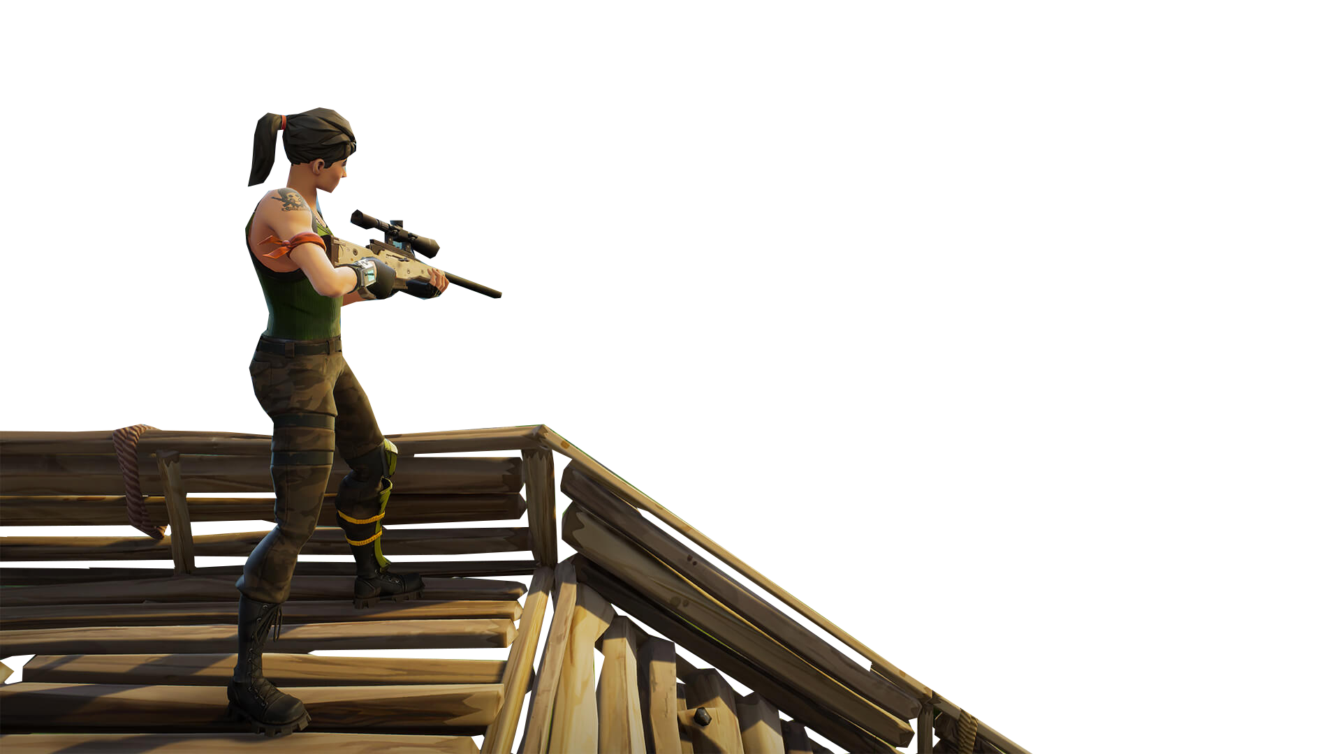 Fortnite sniper rifle png. On stairs thumbnail template