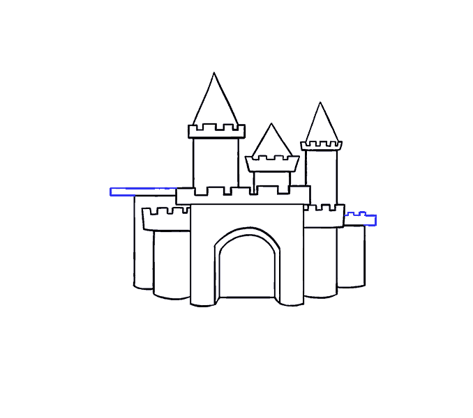 Transparent castle easy. How to draw a