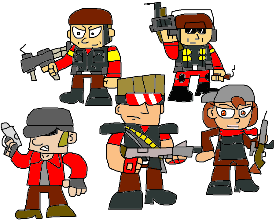 Fortress drawing citadel. Team part red by