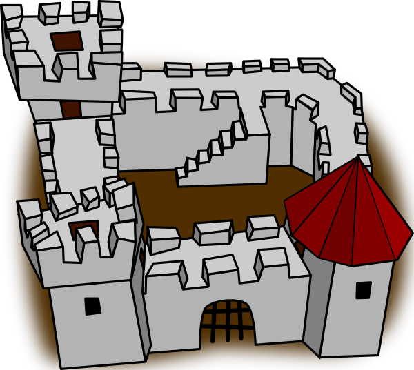 Fortress drawing clip art. Ugly non perspective cartoony