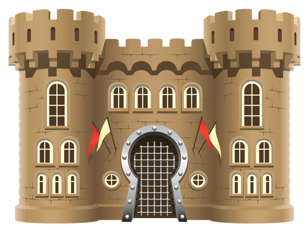 Fortress drawing clip art. Castle png clipart image