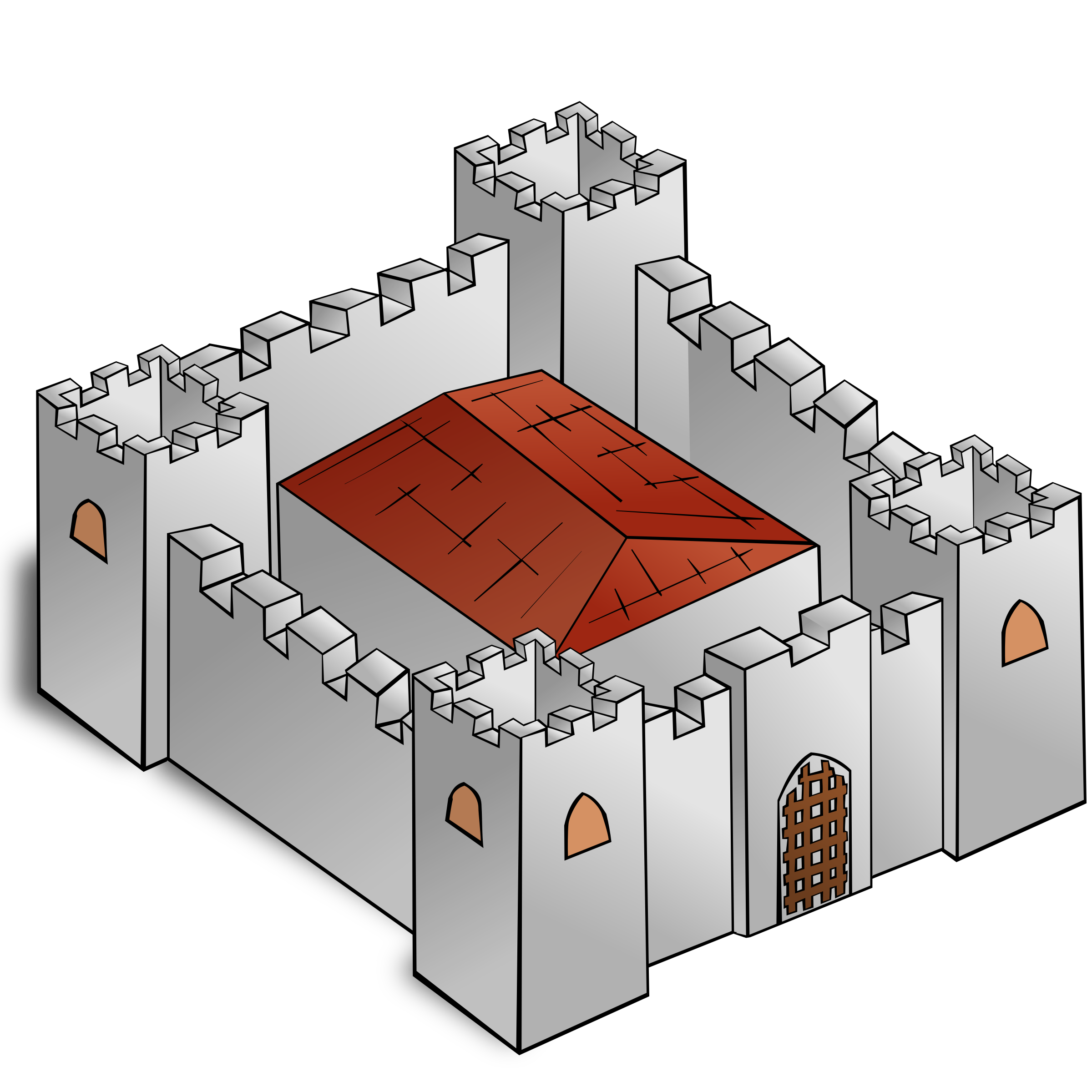 Fortress drawing fort. Clipart rpg map symbols