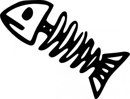Fossil clipart fish png black and white stock